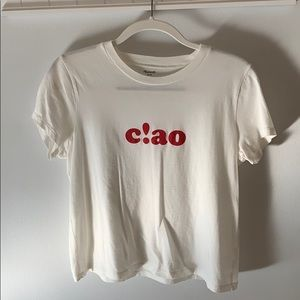 Madewell ciao t shirt small